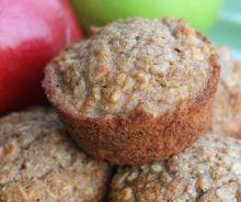 Muffins santé à l'avoine et compote de pommes