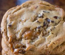 Biscuits au chocolat et caramel
