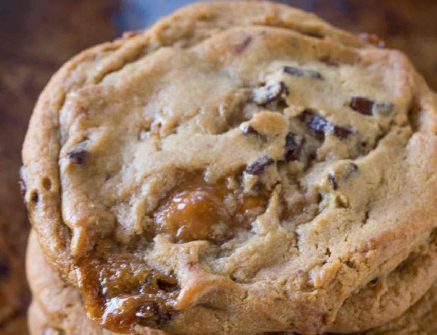 La recette facile de biscuits aux chocolat et caramel!