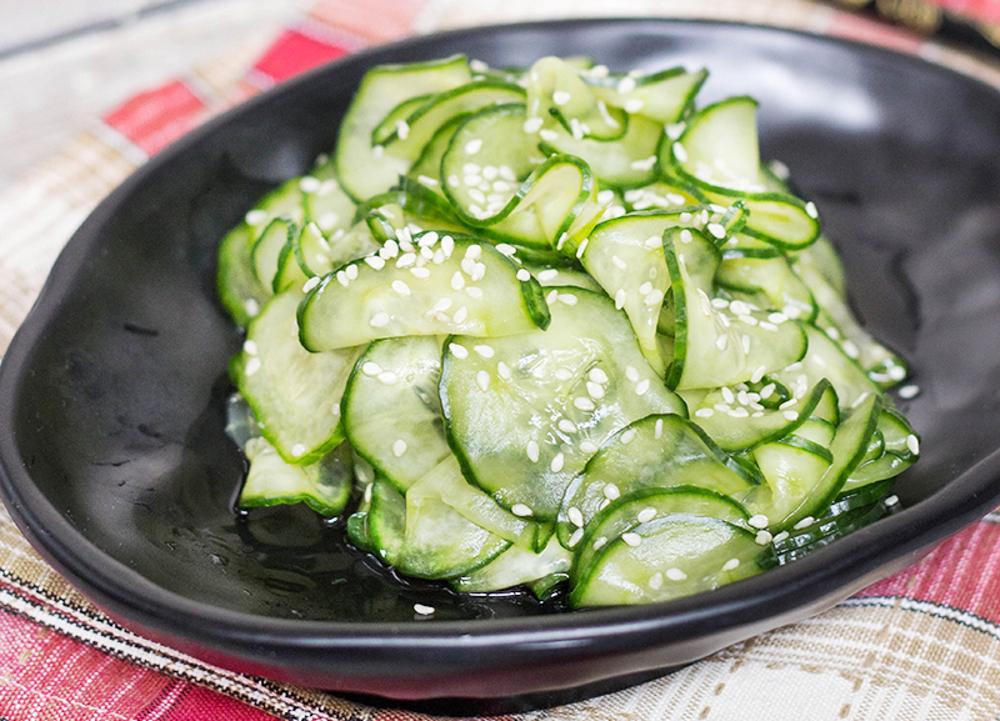 La recette facile de salade de concombre à la japonaise!