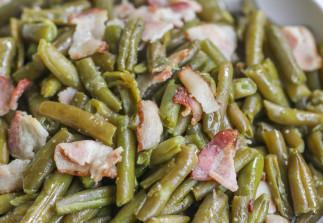 Fèves vertes et bacon dans la mijoteuse