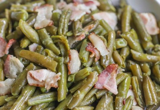 La recette facile de fèves vertes et bacon dans la mijoteuse!