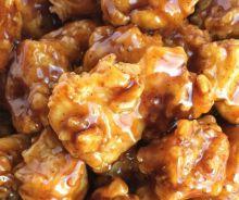 Poulet croustillant au miel