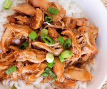 Haut de cuisse de poulet teriyaki à la mijoteuse