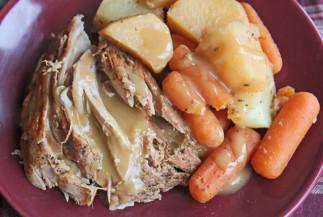Rôti de porc et légumes à la mijoteuse