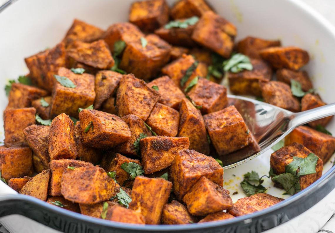 La recette facile de patates douces épicées à la marocaine!