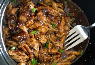 La recette facile de poulet miel et ail dans la mijoteuse!