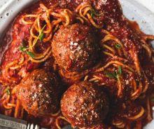 Sauce spaghetti et boulettes de viande à la mijoteuse