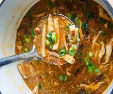 Soupe asiatique au tofu (aigre-douce)