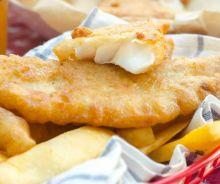 Filets de poisson (Fish & Chips) avec une panure à la bière