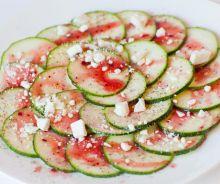 Salade de courgettes au fromage feta