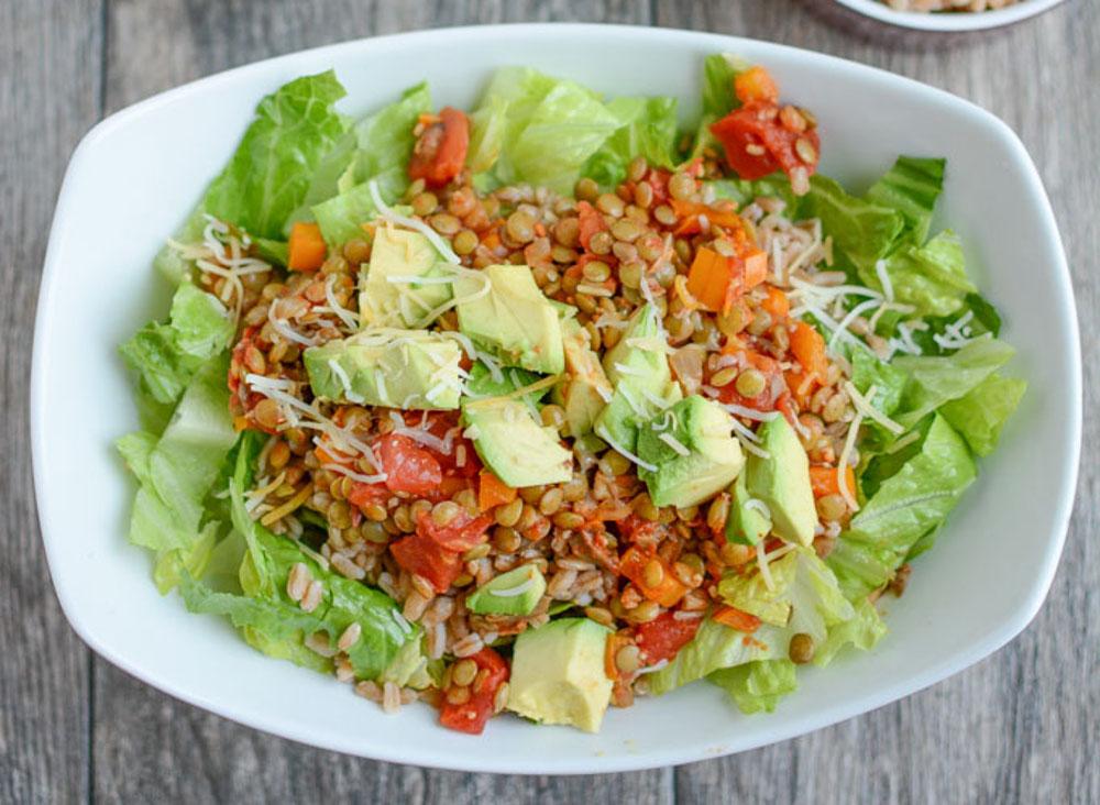 La succulente salade de lentilles au tacos!