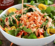 Salade saumon épicée à la thaïlandaise