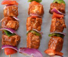 Brochettes de shish-taouk végétariennes