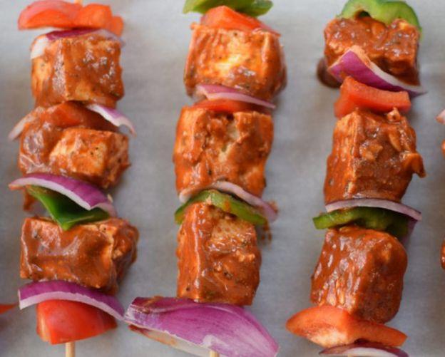 La meilleure recette de brochettes de shish-taouk végétariennes!