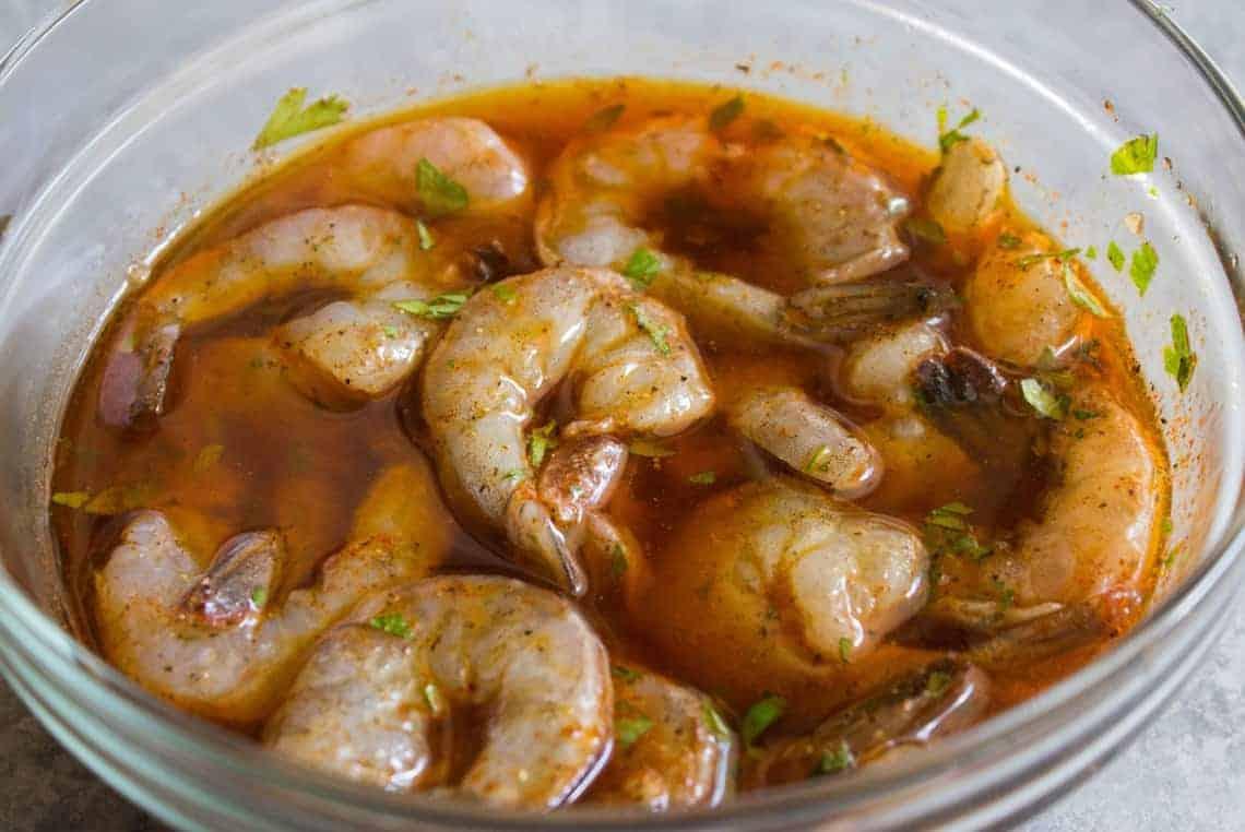 La meilleure recette de marinade de crevettes au monde!