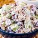 La recette facile de salade de poulet aux raisins (Un vrai délice)!
