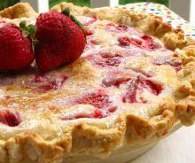 Tarte aux fraises à la crème sure