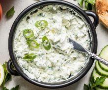 Trempette aux échalotes, herbes et fromage à la crème