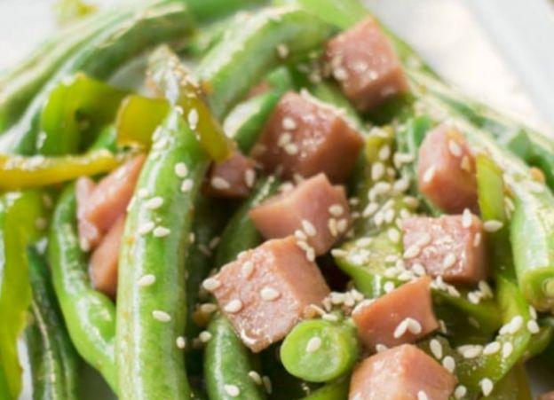 La recette facile de fèves vertes au jambon (style Buffet chinois)!