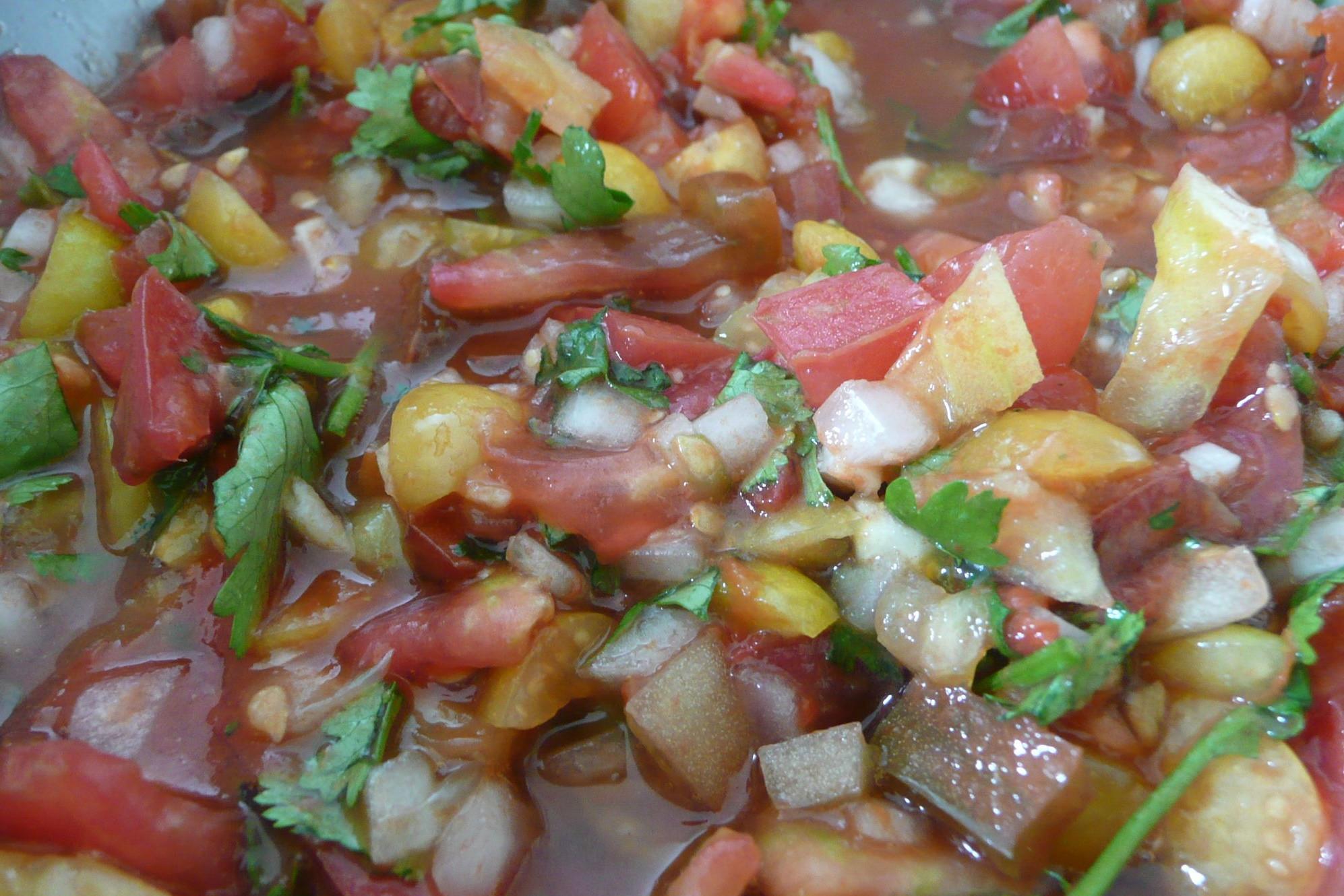 La recette facile de salsa de cerises de terre! Un délice...