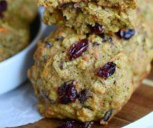 Biscuits santé à l'avoine, carottes et zucchinis