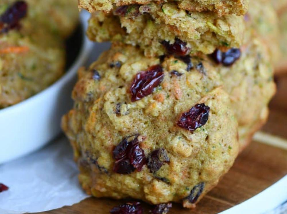 Les meilleurs biscuits santé à l'avoine, carottes et zucchinis!