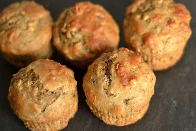 La meilleure recette de muffins aux bananes, miel et beurre d'arachides!