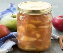 Conserve de garniture de tarte aux pommes
