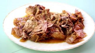 La meilleure recette de porc effiloché au jus de pommes dans la mijoteuse!
