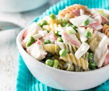Salade crémeuse de pâtes aux fruits de mer