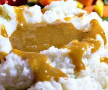 Sauce « gravy » végane et sans gras