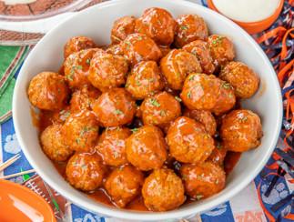 La recette de boulettes de viande à la sauce Ranch et Buffalo à la mijoteuse