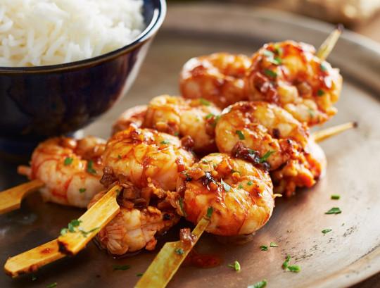 Cette recette de crevettes à l'orange et à la Tequila est franchement délicieuse!