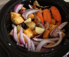 Légumes rôtis dans la mijoteuse