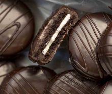 Biscuits Oréo enrobés de chocolat