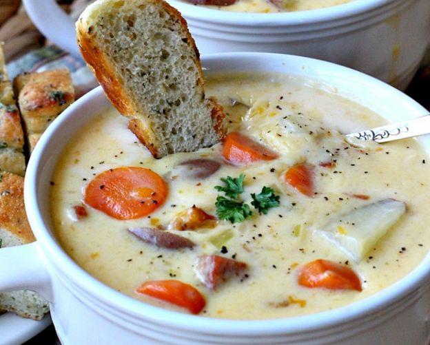 La soupe canadienne au fromage est un pur délice!