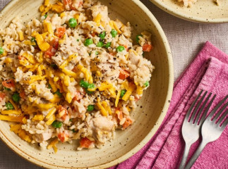 Le meilleure riz crémeux au poulet dans la mijoteuse!