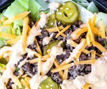 Bol de salade (style Big Mac)