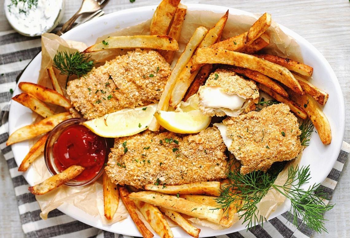 La meilleure recette de Fish and Chips maison (Au four!|)