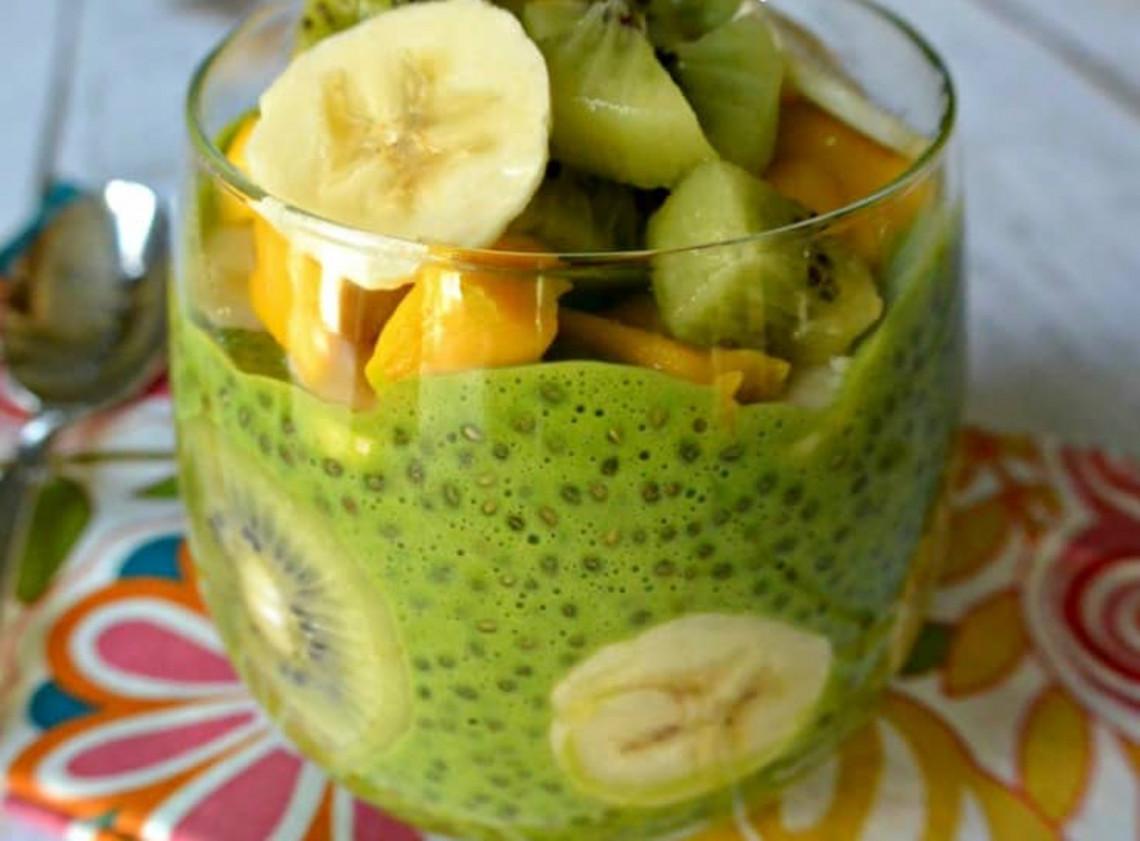 La meilleure recette de pouding vert aux graines de chia (Très facile à faire!)