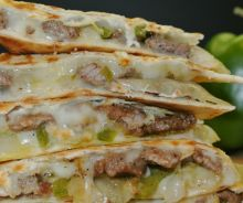 Quesadillas au steak et fromage