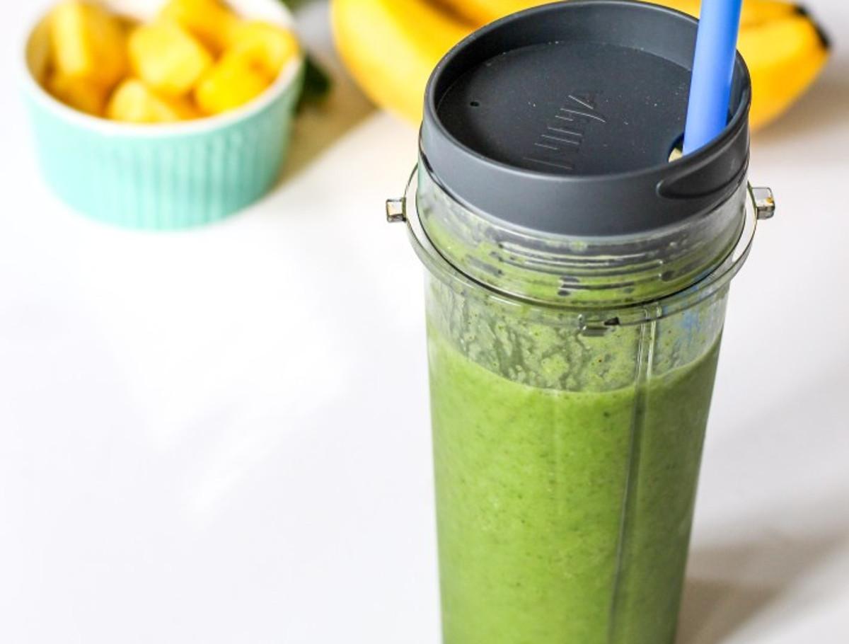 La recette de smoothie vert détoxifiant avec des graines de chia qui fait du bien!