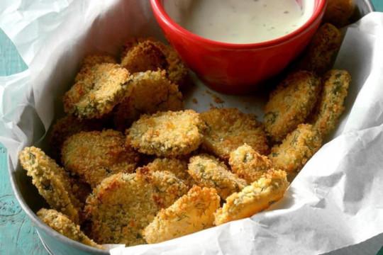 Les cornichons frits dans la friteuse à air chaud sont super faciles à faire…