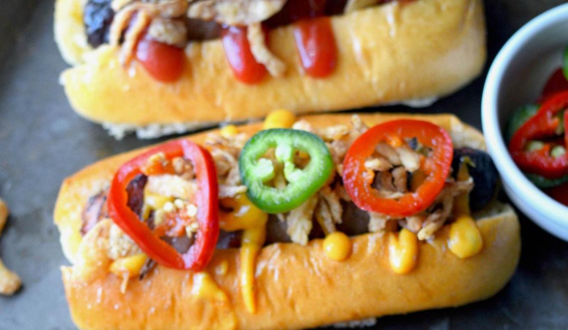Les hot-dogs au bacon et fromage.... Un vrai régal!