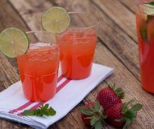 Limonade alcoolisé aux fraises et à la Tequila