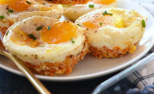 La meilleure recette de muffins déjeuner aux œufs et patates douces!