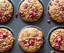 Muffins à la rhubarbe (sans gluten)