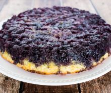 Gâteau renversé aux bleuets