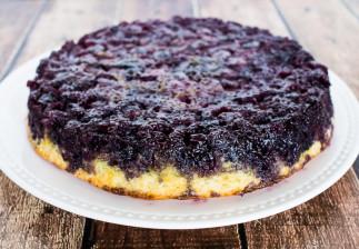 La meilleure recette de gâteau renversé aux bleuets (Très facile!)